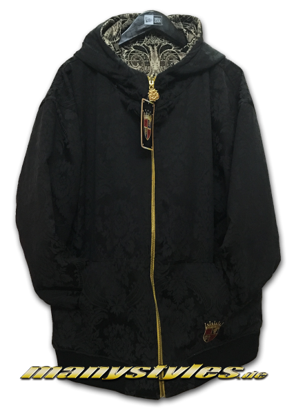 Side 1: 7th Hood Zip 2Side Jacked Black Khaki