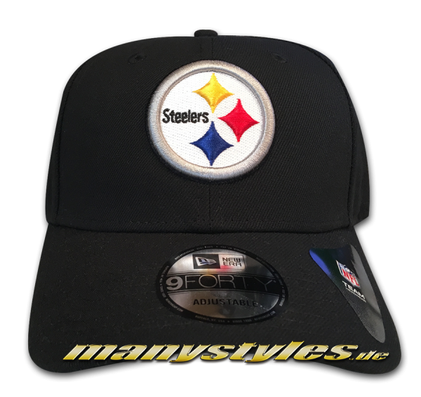 Pittsburgh Steelers 9FORTY NFL The League Curved Visor Adjustable Cap Original Team Color OTC von New Era