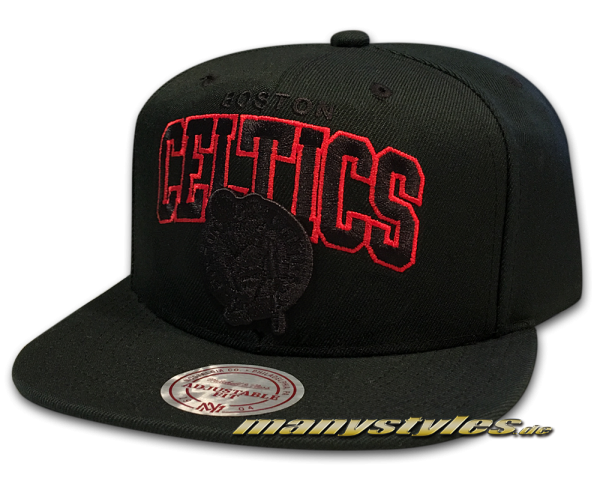 Boston Celtics NBA Snapback Cap Red Pop Team Arch Black Red von Mitchell and Ness