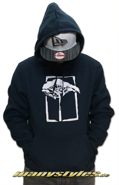 Mahagony Hooded Sweater Royal White