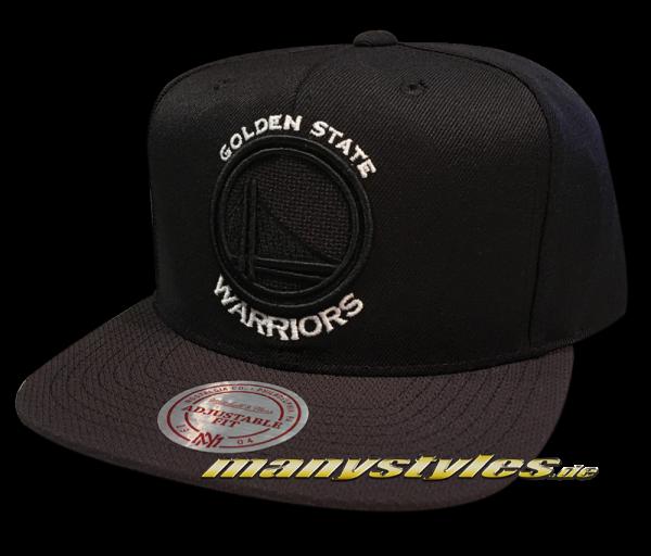 Golden State Warriors NBA Snapback Cap Full Dollar Black White von Mitchell and Ness