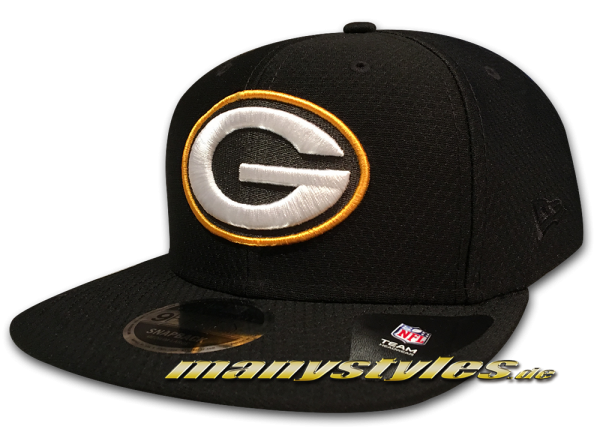 Greenbay Packers 9FIFTY NFL Diamond Era DryEra Tech 950 Snapback Cap Black Original Team Color OTC von New Era