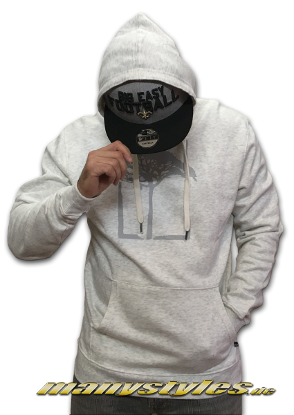 Mahagony Hooded Sweater Silver Melange