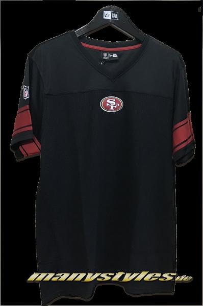 San Francisco 49ers NFL Team V-Neck Jersey Black