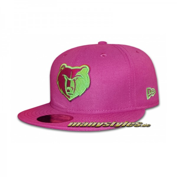 Memphis Grizzlies 59FIFTY NBA Basic Cap Sparkling Grape Lime