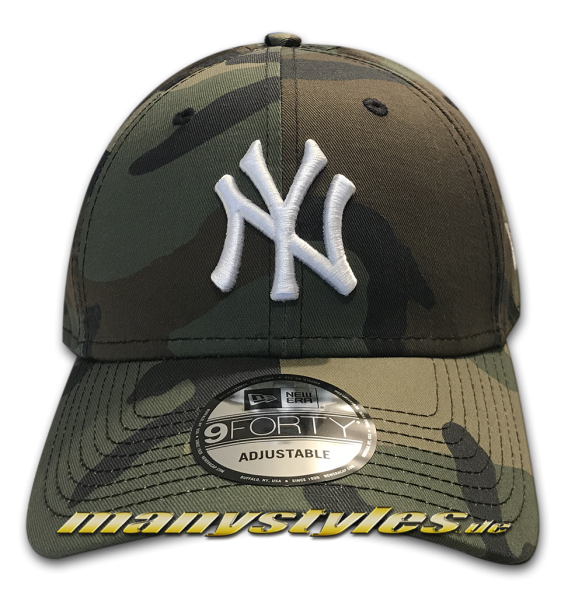 NY 9 forty Adjustable Camoflage white Vorderseite