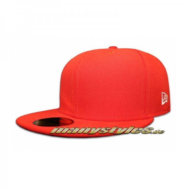 NE Original Blank 59FIFTY Cap Clean Plain Caps without Logo Glaze Red