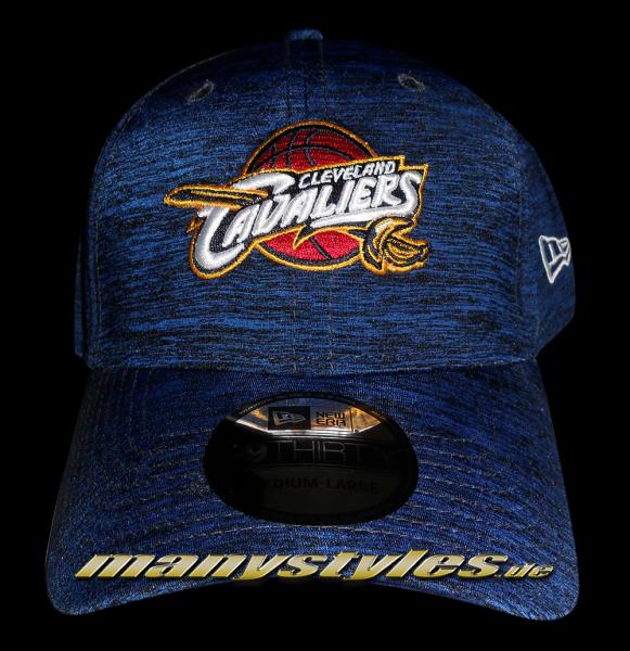 Cleveland Cavaliers NBA Stretch Space Dye Curved Visor Flex Fit Cap Navy TC