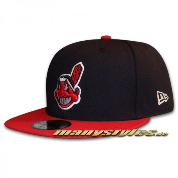 Cleveland Indians MLB NE Team Structure 59FIFTY Cap Authentic Perfomance Home von New Era