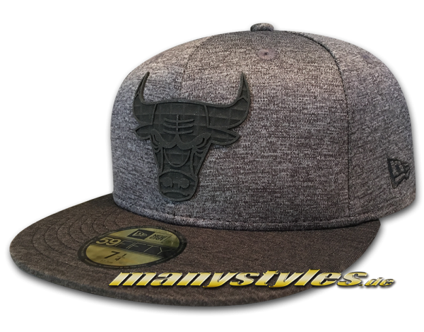 Chicago Bulls NBA 59FIFTY Snapback Cap Concrete Jersey Graphite Heather Black von New Era