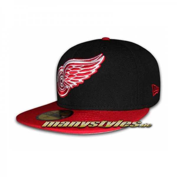 Detroit Red Wings 59FIFTY NHL Team Visor Cap Black Red exclusive