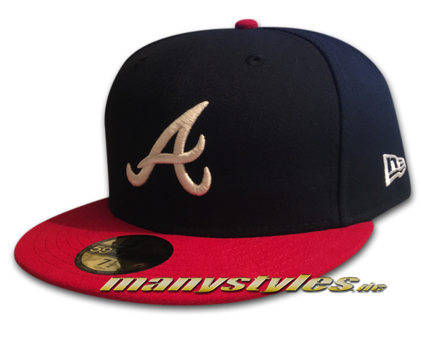 Atlanta Braves 59FIFTY MLB NE Team Structure Authentic Performance Cap Home von New Era