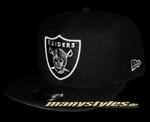 Oakland Raiders NFL 9FIFTY Original Fit exclusive Snapback Cap Black White
