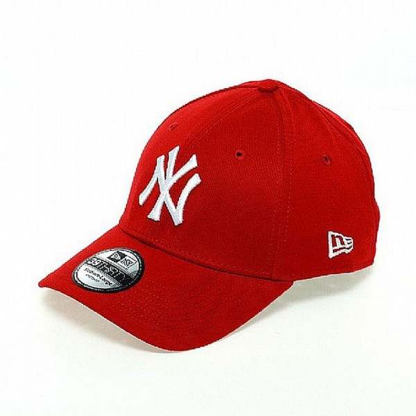 NY Yankees MLB 39THIRTY Stretch Flex Fit Cap Scarlet Red White von New Era