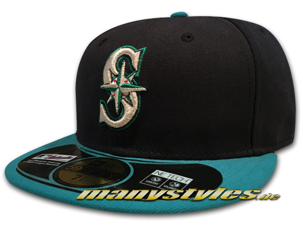 Seattle Mariners 59FIFTY MLB Performance Authentic on Field Alternate Cap von New Era