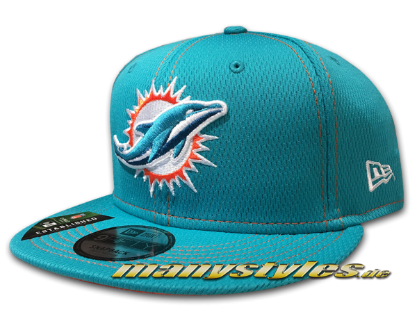 Miami Dolphins 9FIFTY NFL19 SL RD 950 Snapback Cap OTC Teal Orange von New Era