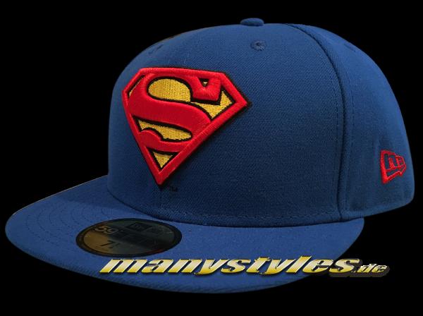 New Era Superman DC Comics 59FIFTY Basic Badge OTC Team Royal
