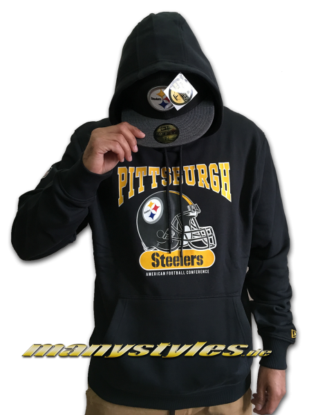 Pittsburgh Steelers NFL Team Archie Hoodie Hooded Sweater Black Yellow Team Color von New Era