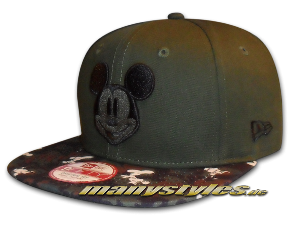 Disney Comic Art 9FIFTY Mickey Mouse Camo Vize Snapback Cap