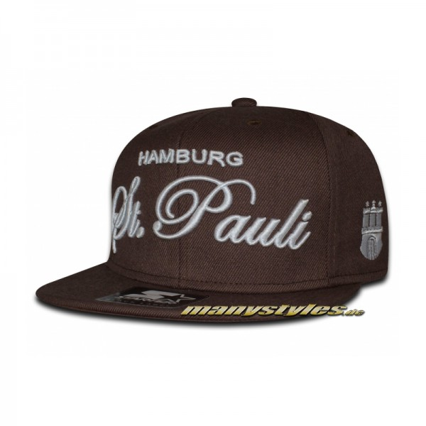 manystyles de St. PAULI Brown White manystyles exclusive Starter Snapback Cap