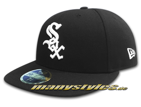 Chicago White Sox MLB LC Authentic Performance Low Profile Cap Curved Visor Black White LP Low Profile Cap von New Era