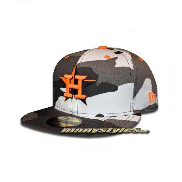 Houston Astros 59FIFTY MLB Camo Pop Cap Urban Camouflage Orange