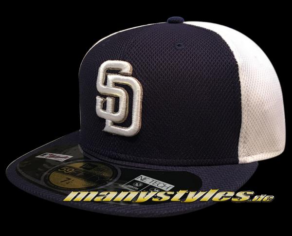 San Diego Padres  59FIFTY MLB Diamond Era Series on field Cap Authentic Navy White von New Era