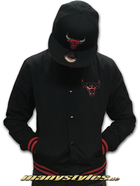 Chicago Bulls College Jacket Black Red