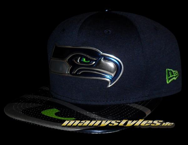 Seattle Seahawks 9FIFTY NFL 2017 on field Draft Snapback Cap