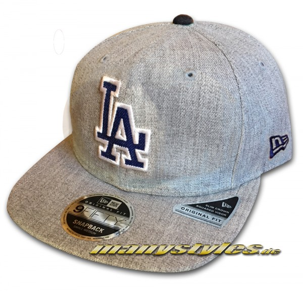 LA Dodgers 9FIFTY NFL Heathered Hype OF Original Fit Snapback Cap Original Official Team Color OTC von New Era