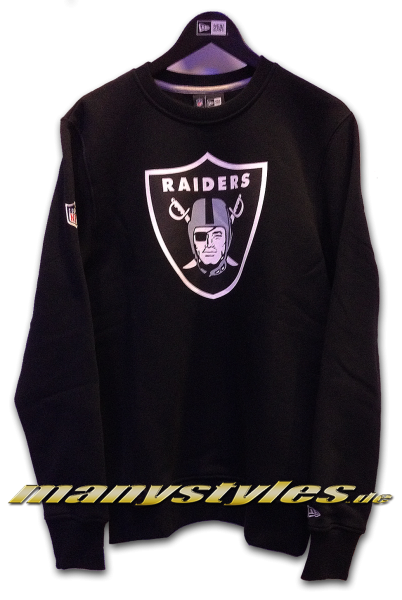 Oakland Raiders NFL Team Crewneck Sweater Black Team Color