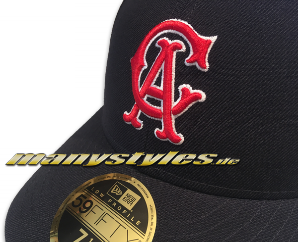 California Angels MLB LC Authentic Performance Low Profile Curved Visor Cap von New Era HWC Hardwood Classics altenate front view