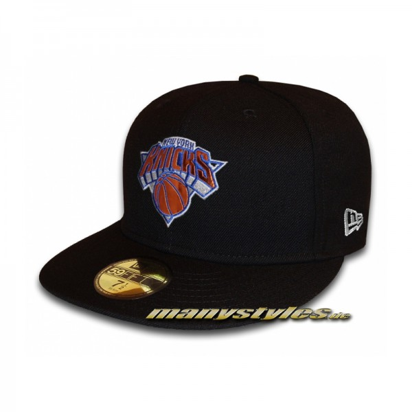 NY KNICKS New Era 59FIFTY NBA Teametallic Cap Black Team Color Metallic Foil Patch