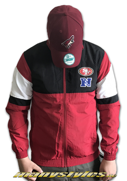 San Francisco 49ers NFL For Track Jacket Windbreaker Official Team Color