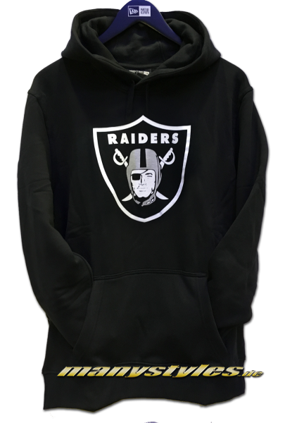 Oakland Raiders NFL PO Hood Hooded Sweater Black Official Team Color von New Era