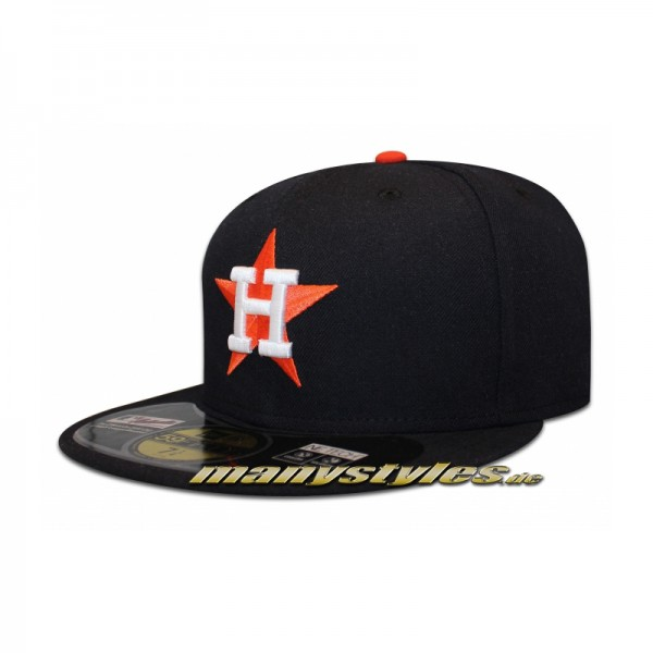 Houston Astros 59FIFTY MLB on field Cap Retro Authentic Navy Orange Pin
