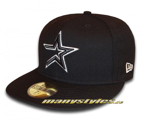 Houston Astros 59FIFTY MLB Basci Outline Cap Classic Retro Logo von New Era