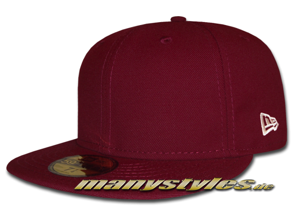 NE Originals Blank 59FIFTY Cap Maroon Red Clean Plain