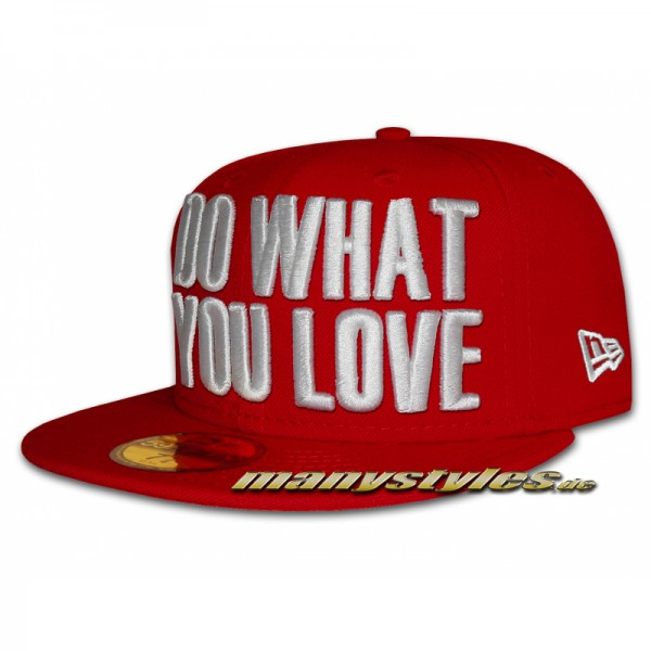 Do What You Love New Era Cap Scarlet Red White exclusive 59FIFTY