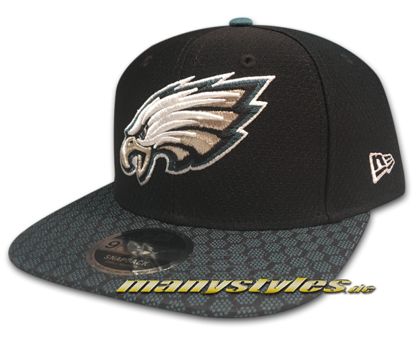Philadelphia Eagles 9FIFTY NFL Sideline 2017 On Field Originals Fit Snapback Cap Black OTC von New Era