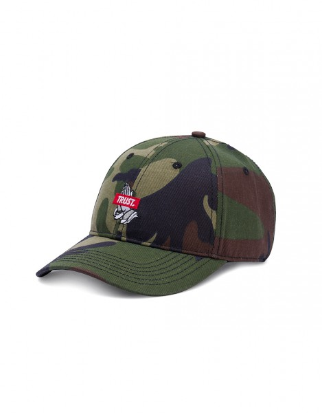 Cayler & Sons Trust Woodland Camouflage Curved Visor Adjustable Cap