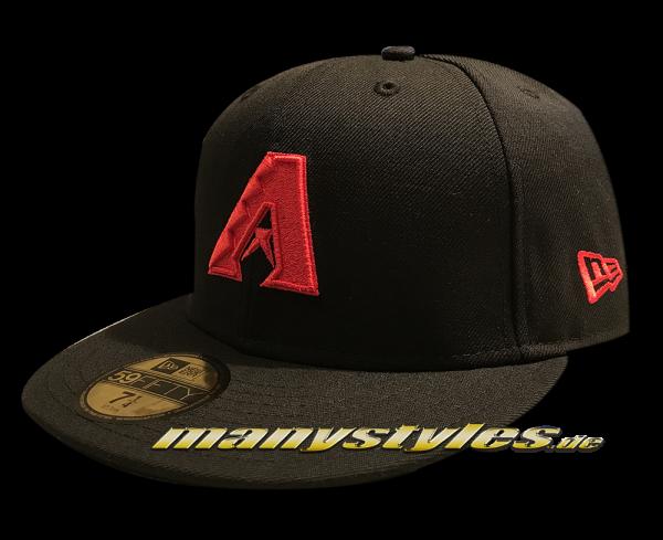 Arizona Diamond Backs MLB Basic 59FIFTY Black Scarlet Red von New Era