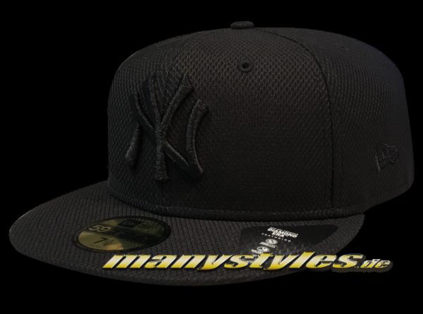 NY Yankees NBA 59FIFTY Diamond Era 5950 Cap Black on Black von New Era