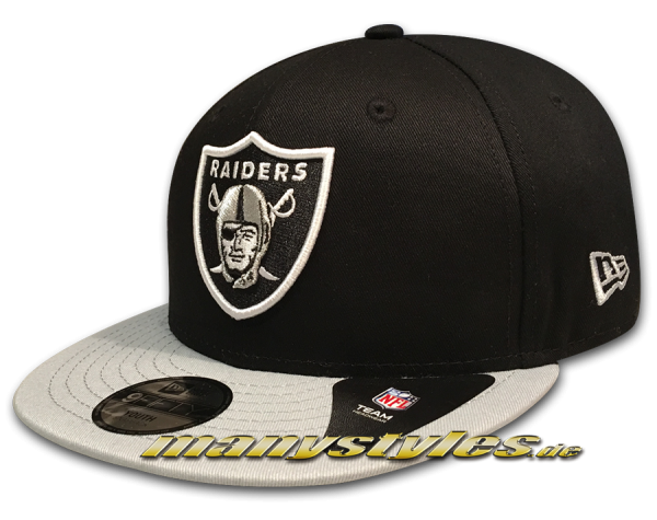 NEW ERA Oakland Raiders 9FIFTY NFL League Essential Snapback Cap Youth Child Grey Black Team