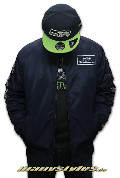 Seattle Seahawks Zip SB50 Bomberjacket