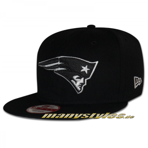 New England Patriots 9FIFTY Black White exclusive Snapback Special Cap