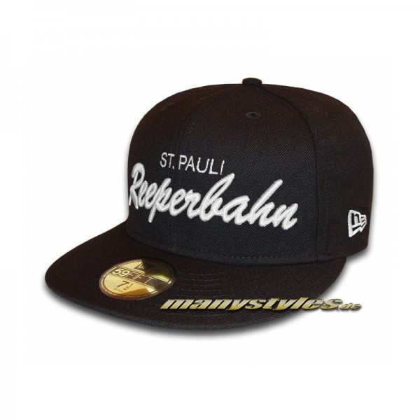 St. Pauli Reeperbahn Basic Cap exclusive special edition Black White