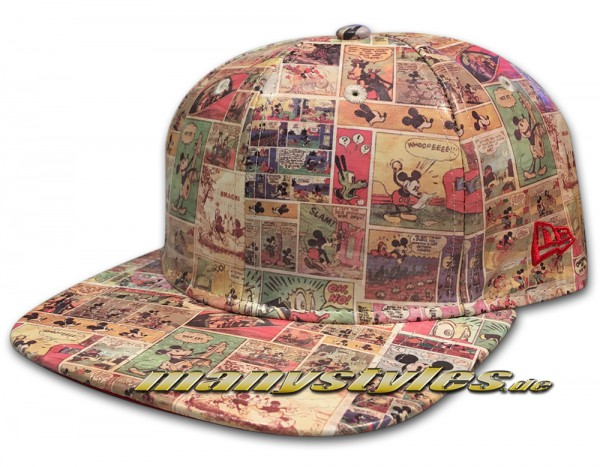 New Era Disneys Mickey Mouse 9FIFTY Original Fit Snapback Comic Snap Cap All Over Sketches