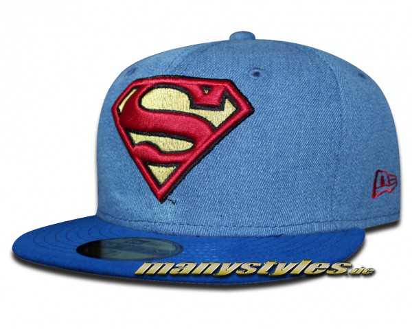 Superman DC Comics 59FIFTY Denim Hero Cap OTC von New Era