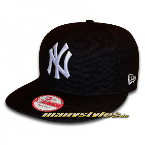 NY YANKEES 9FIFTY League Essential Snapback Cap Black White von New Era